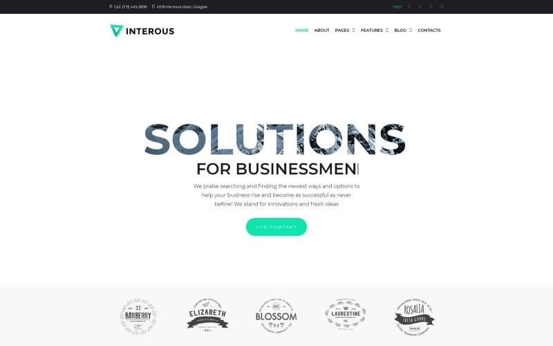 Interious - Business Services WordPress Theme