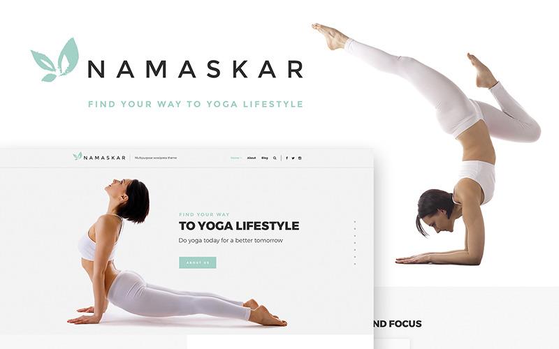 Namaskar - тема WordPress для йоги