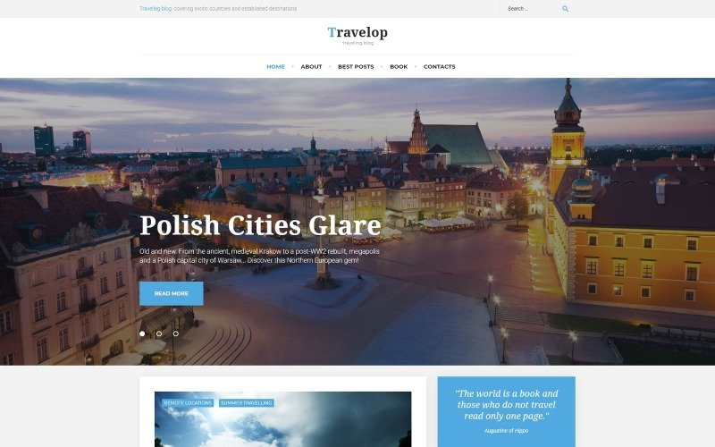Travelop_lite - Travel photo blog WordPress Theme
