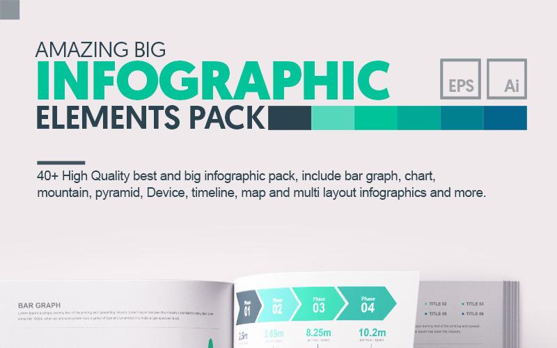 Удивительные элементы инфографики Big Bundle