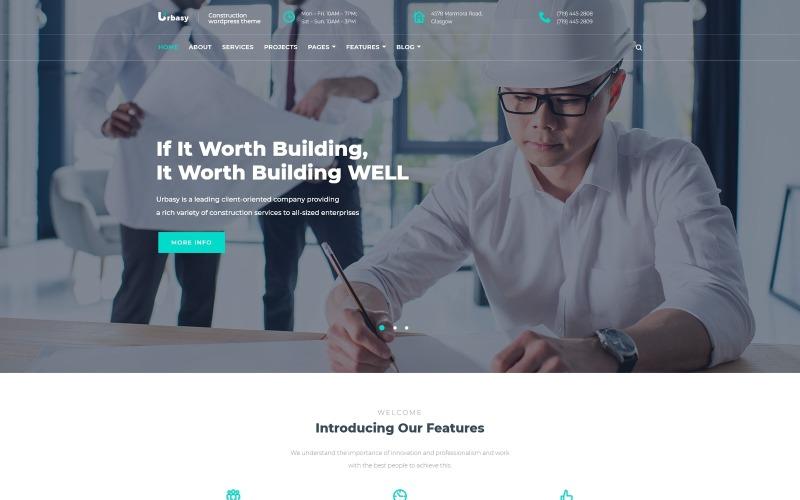 Urbasy - Тема WordPress для будівельної компанії