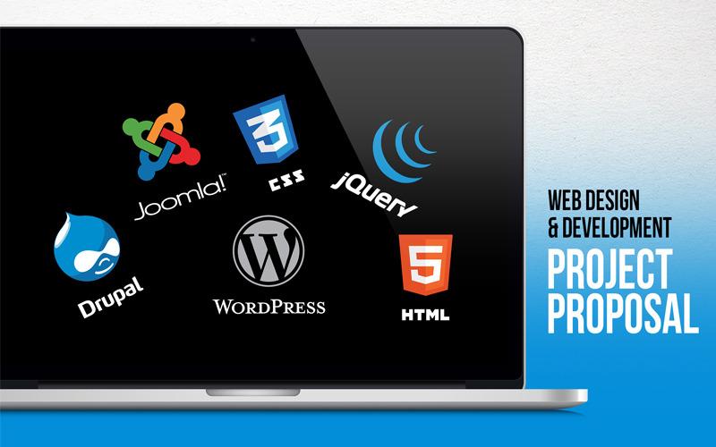 Web Design Development Project Proposal Powerpoint Template 66476