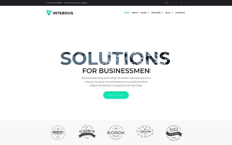 Zajímavé - WordPress téma pro obchodní služby