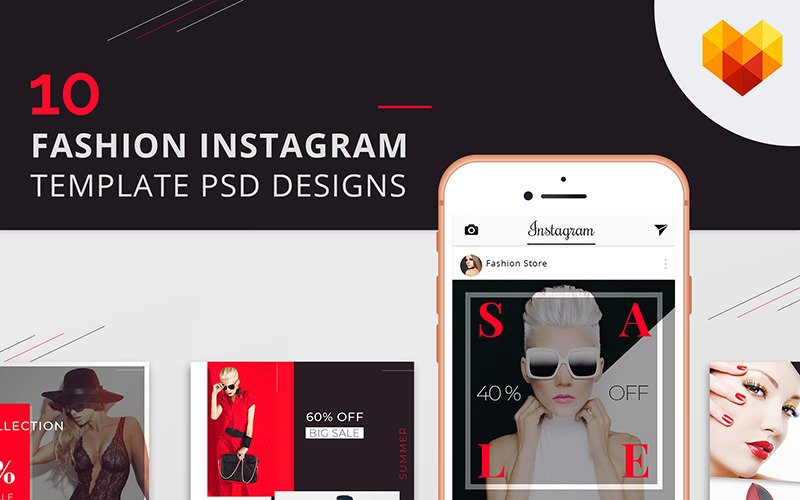 10 Fashion Instagram Template PSD Designs for Social Media