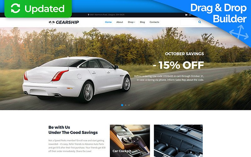 GearShip - Car Parts Store MotoCMS Ecommerce Template