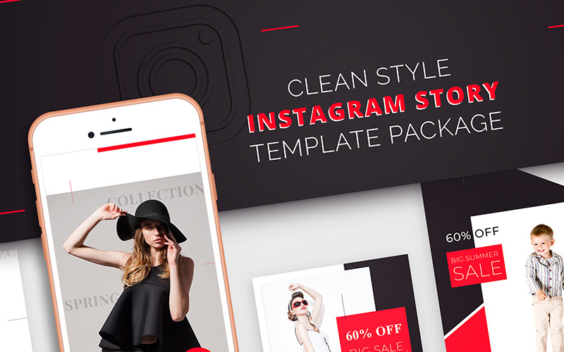 Instagram Story Template Package For Fashion Business for Social Media