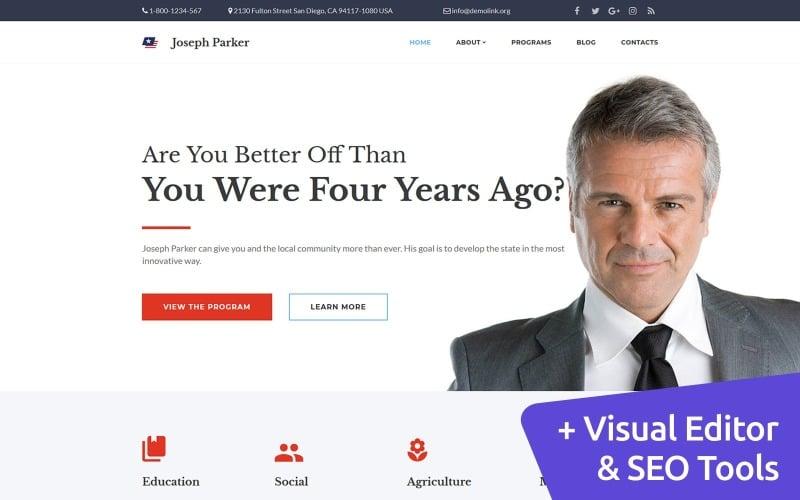 Joseph Parker - Political Candidate Moto CMS 3 Template