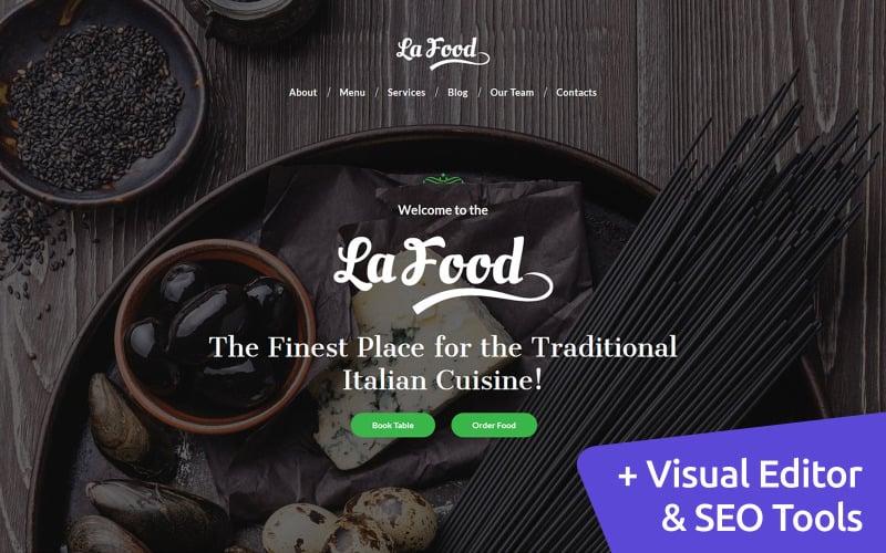 La Food - Italian Restaurant Moto CMS 3 Template
