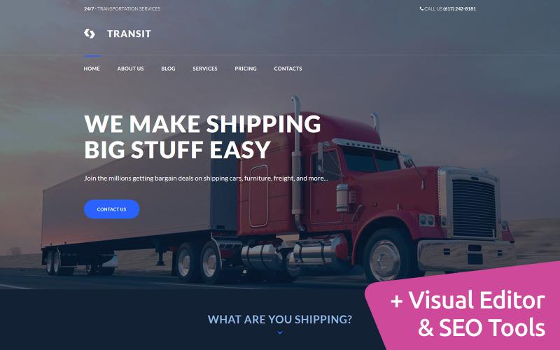 Modèle de service de logistique et de transport Moto CMS 3