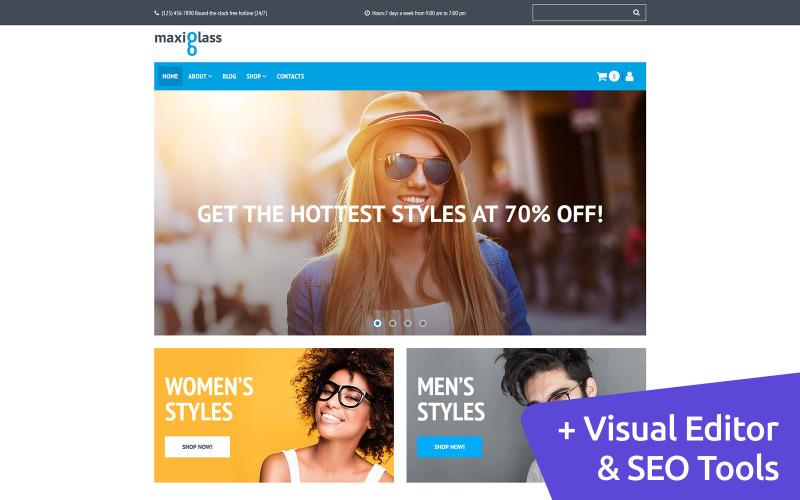 MaxiGlass - Online Glasses Store MotoCMS Ecommerce Template