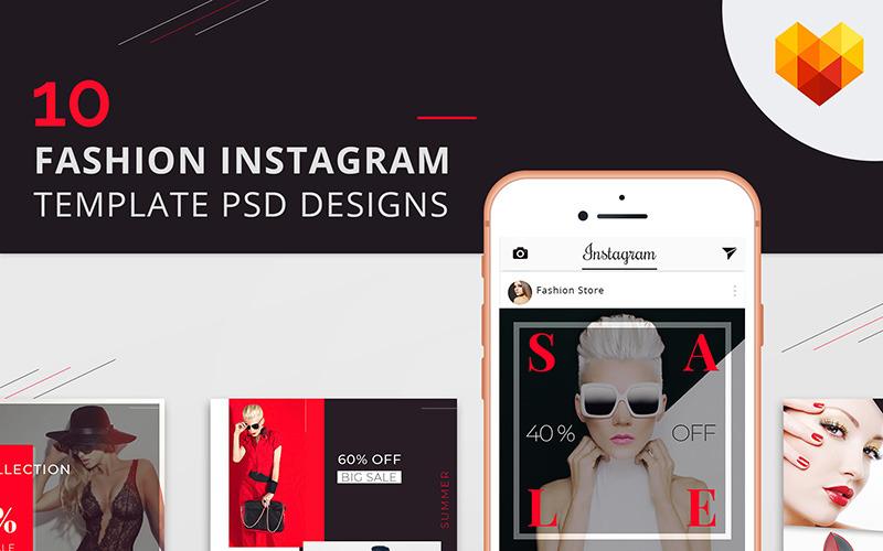 10 módních instagramových šablon návrhů PSD pro sociální média