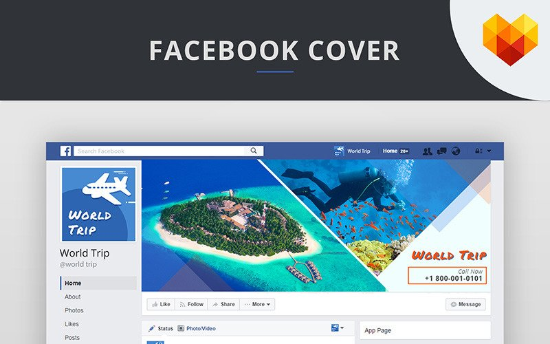 Travel Agency Facebook Cover Picture Social Media Template