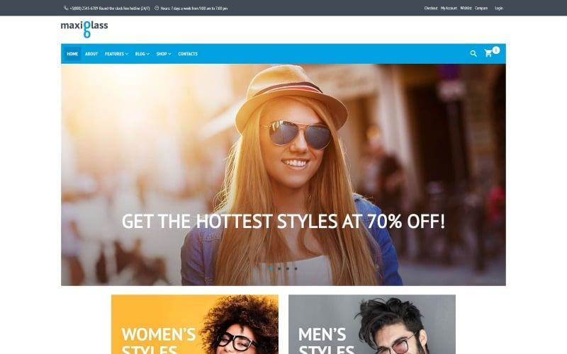 MaxiGlass Eye Glasses WooCommerce Theme