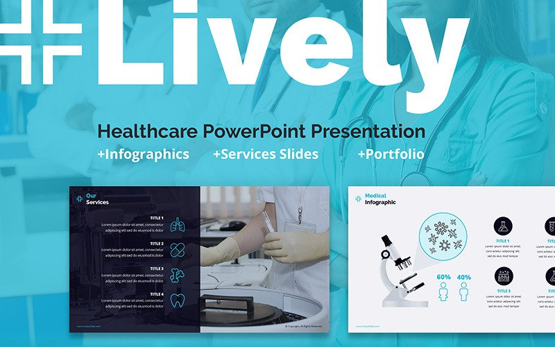 Lively Healthcare PPT Slides PowerPoint шаблон