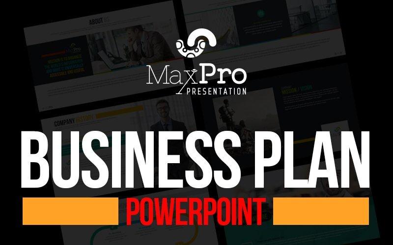 MaxPro - Businessplan PowerPoint-Vorlage