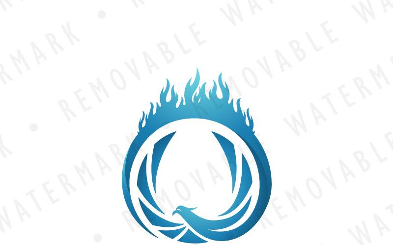 Шаблон логотипа Кольцо Феникса