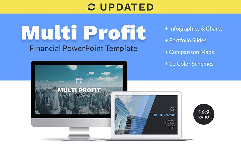 Шаблон презентации Multi Profit Financial Company PPT PowerPoint