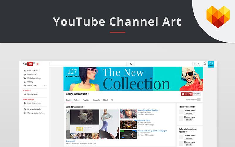 Modèle de couverture YouTube pour magasin de mode pour les médias sociaux