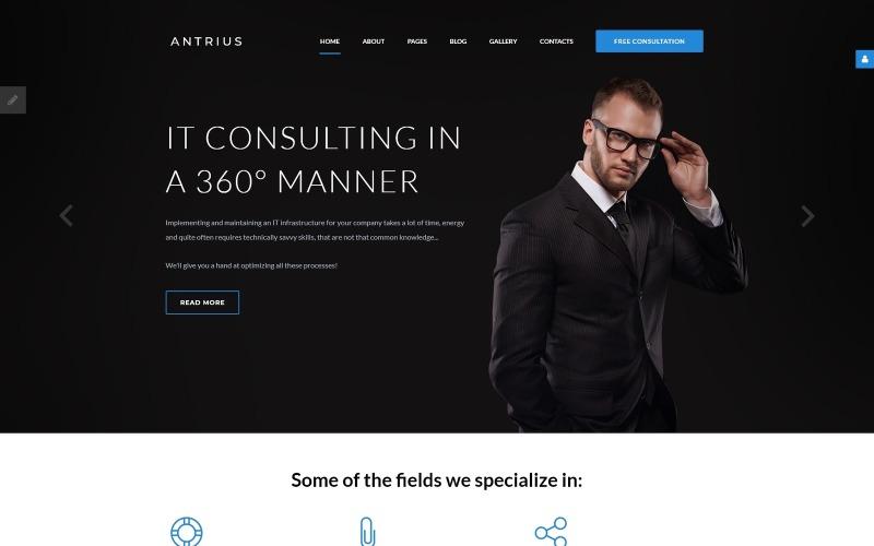 Antrius - Business Consulting Joomla Template