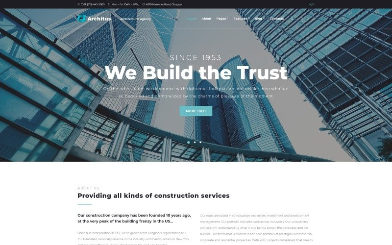 Architus - Construction WordPress Theme