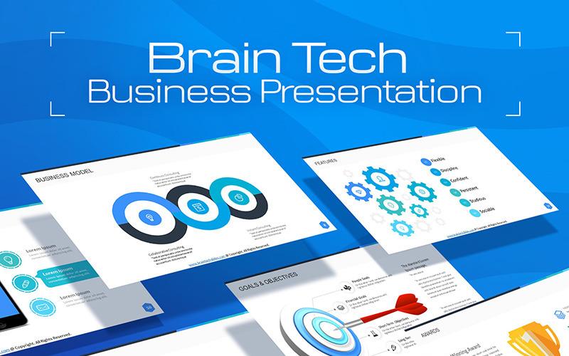 BrainTech PPT-bilder för konsulttjänster PowerPoint-mall