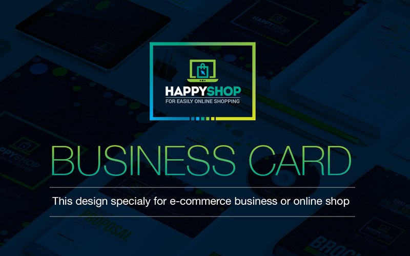 Business Card For E Commerce Or Online Shop Shopping Mall Business Card Corporate Identity Template 66891