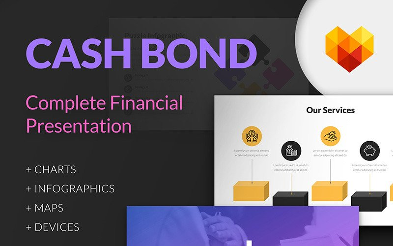 现金保证金-财务报告PowerPoint模板