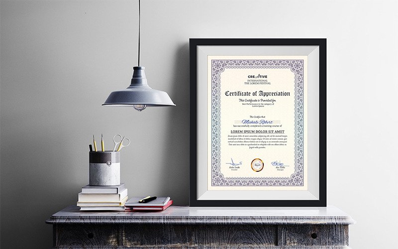 Corporate & Modern Word Mehrzweck-Zertifikatvorlage