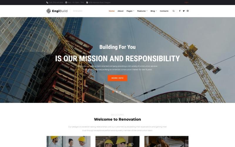 EngiBuild - Tema WordPress de construção