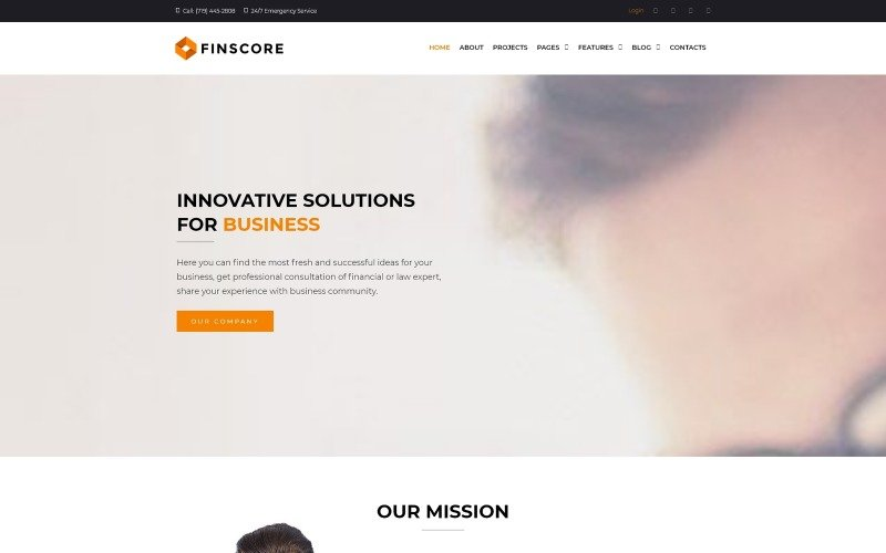 Finscore - Consulting Responsive WordPress Theme