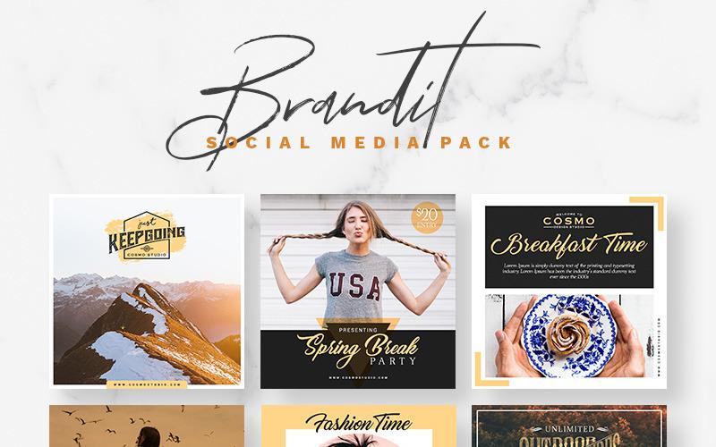 Szablon mediów społecznościowych Brandit Pack
