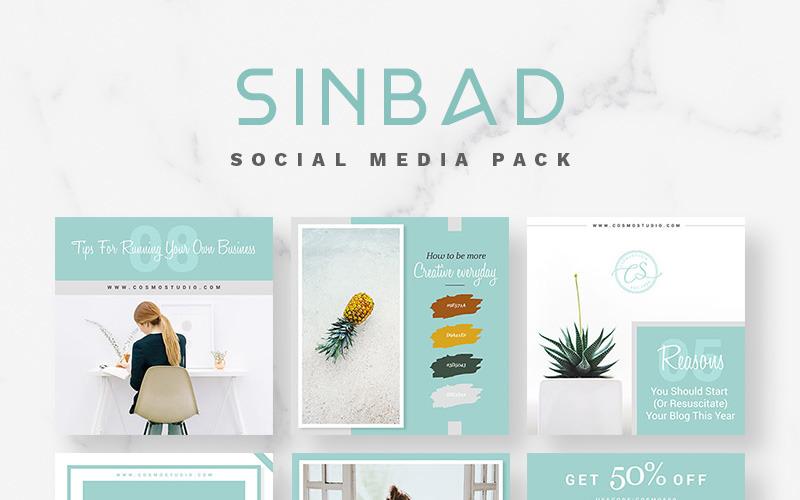 Modelo de mídia social do pacote SINBAD