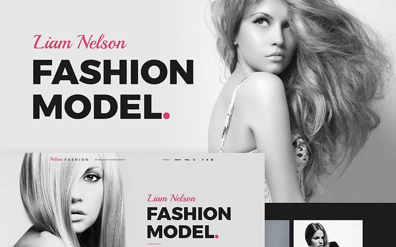 Nelson Fashion - Tema do WordPress Elementor da Agência de Modelos