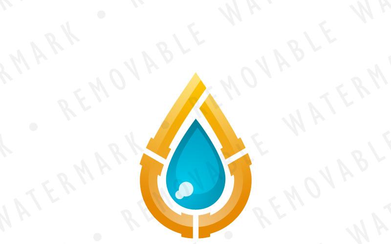 Шаблон логотипа капли воды сантехника