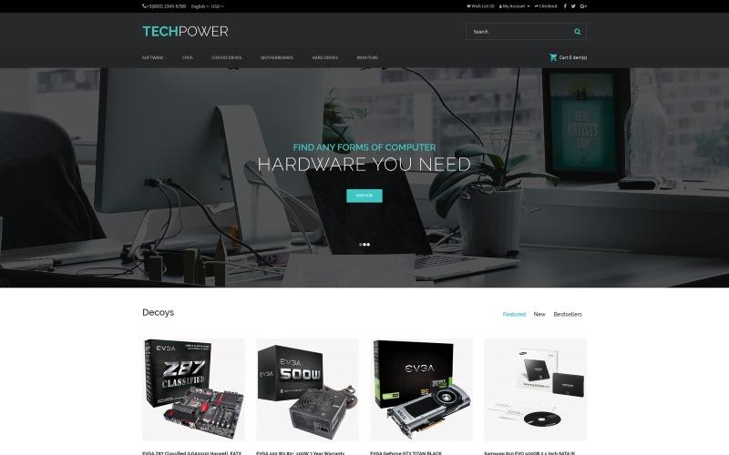TechPower - OpenCart шаблон для магазина оборудования