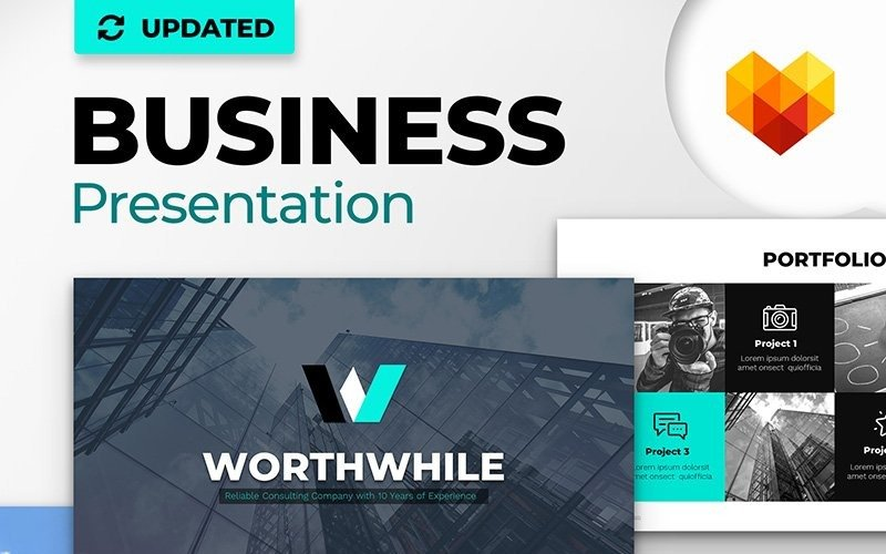 WorthWhile Consulting PPT Design PowerPoint-Vorlage