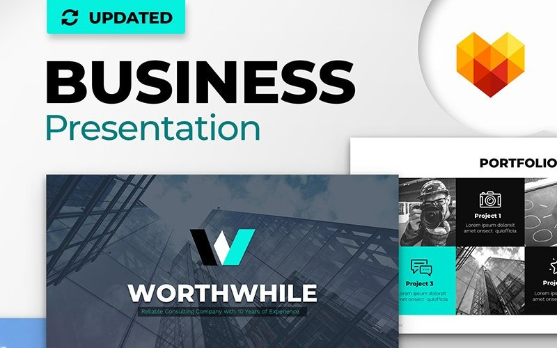 WorthWhile Consulting Szablon PPT Design PowerPoint