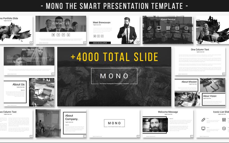 Mono - Akıllı Sunum PowerPoint Şablon