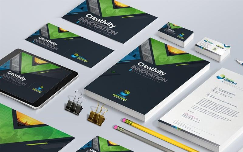 Business Mega Branding Stationery Identity Template