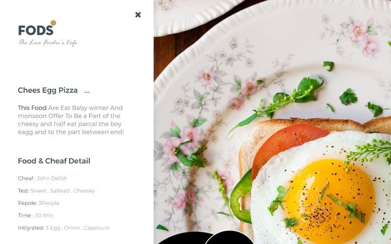 FODS - PSD шаблон кафе Live Foodie's Cafe