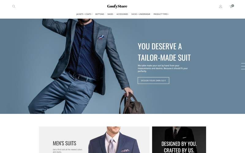 GloStore - Tema Magento de moda masculina de AMP