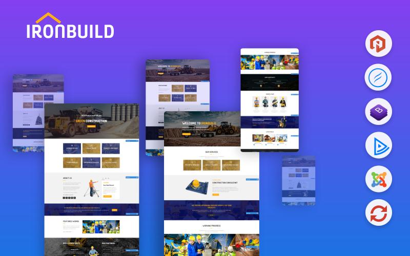 Ironbuild - Будівництво / Фабрика / Промисловий шаблон Joomla