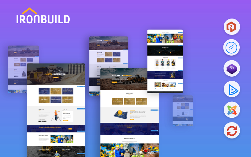 Ironbuild - Construction / Factory / Industrial Joomla Template