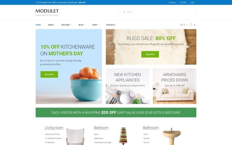 Modulet Home Decor & Furnishing Template WooCommerce Theme