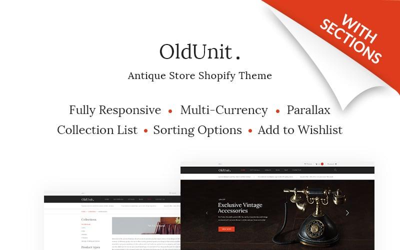 OldUnit. - Antique Store Shopify Theme