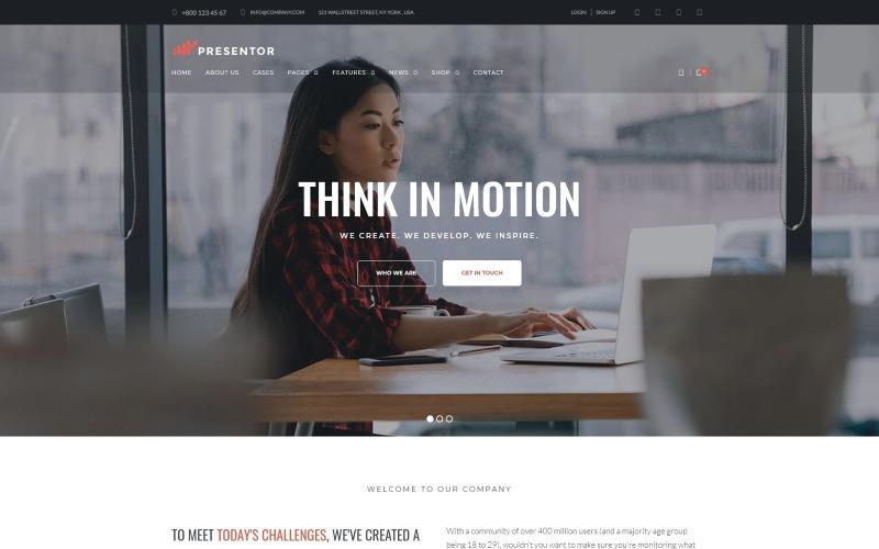 Presentor - тема WordPress для бизнеса Elementor