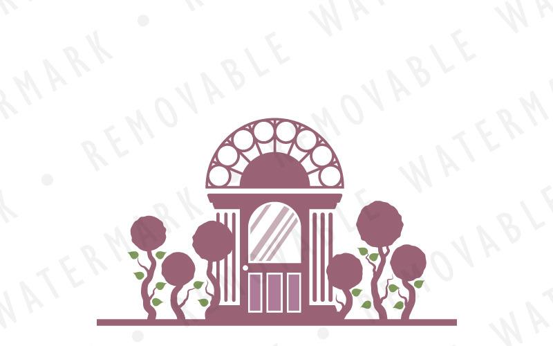 Шаблон Логотипа Дом Дерево Сад
