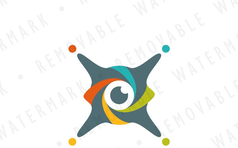 Шаблон логотипа X Drone Eye