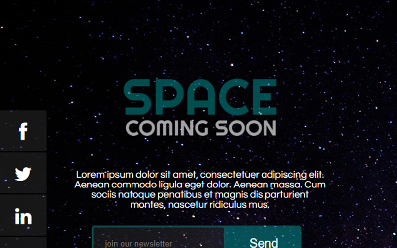 Space Coming Soon Speciale pagina