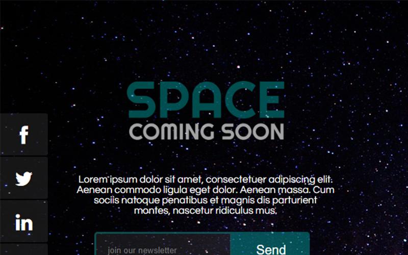 Специальная страница Space Coming Soon